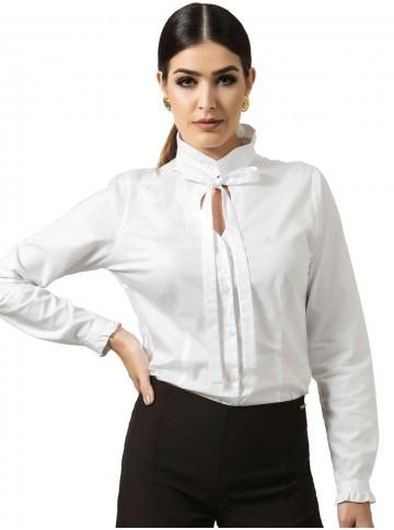 Camisa Branca com Laço Principessa Perola