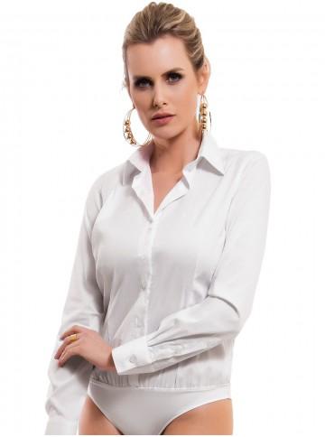 Camisa Body Branca Principessa Paola