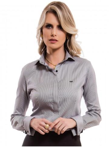 Camisa Feminina Listrada Premium Principessa Flora