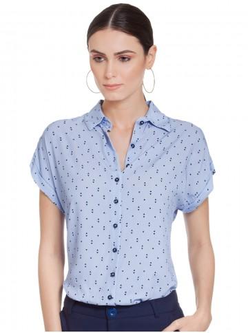 Camisa Feminina Azul Claro Principessa Afrodite